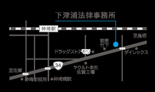 地図【下津浦事務所】
